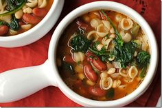 Olive Garden Inspired Minestrone Soup - good Lent meal