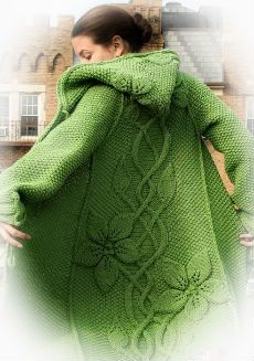 Fantástico saco con capucha tejido con dos agujas - patrones   Patrones de tejido Crochet Fashion, Crochet Clothes, Diy And Crafts, Cross Stitch, Knitting, Cardigans, Sweaters, Long Cardigan, Couture