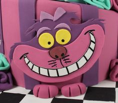 Alice In Wonderland Cake Mad Hatter Party, Mad Hatter Tea, Mad Hatters, Cheshire Cat Cake, Kitten Cake, Miss Cake, 8th Birthday Cake, Maya, Alice In Wonderland Cakes