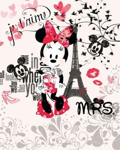 Imagen de paris, minnie, and disney