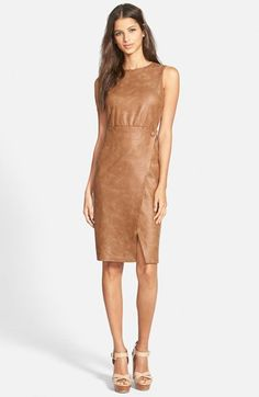 June & Hudson Faux Leather Body-Con Dress available at #Nordstrom