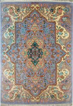 Qum Silk Persian Rug   Exclusive collection of rugs and tableau rugs - Treasure Gallery Qum Silk Persian Rug You pay: $3,900.00 Retail Price: $9,900.00 You Save: 61% ($6,000.00) Item#: cs-q5 Category: Small(3x5-5x8) Persian Rugs Design:  Size: 100 x 150 (cm)      3' 3 x 4' 11 (ft) Origin: Persian Foundation: Silk Material: Silk Weave: 100% Hand Woven Age: Brand New KPSI: 800