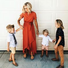 This modest wrap maxi comes in multiple colors and sizes (petite and plus sizing available). Shop more modest trendy dresses at our Utah based boutique, ROOLEE! Fall Family Picture Outfits, Summer Family Pictures, Fall Family Photo Outfits, Fall Family Photos, Mom Outfits, Family Pics, Fashion Outfits, Family Picture Clothes, Outfits For Family Pictures