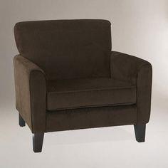 One of my favorite discoveries at WorldMarket.com: Coffee Corduroy Monroe Chair