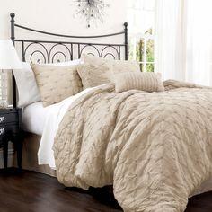 Comforter Set in Taupe - simple unisex bedroom