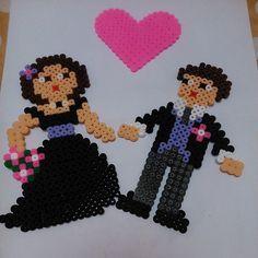 Wedding hama beads by Merce&Paula