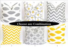 Pillows!  Gray and Yellow PillowsSETS20x20 inch Decorator by ElemenOPillows