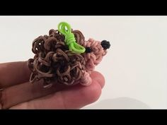 Rainbow Loom Poodle Dog or Puppy Charm. 3-D. Single Loom. - YouTube