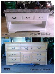 """Entry way makeover from 80's hot mess to warm and inviting. My before and after...upcycled dresser.   Have no idea of what to call this shelf, other than a """"lob…"""