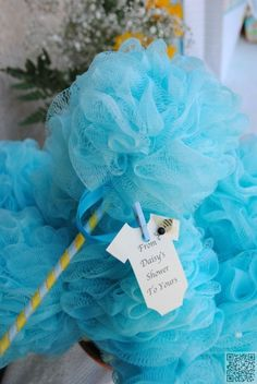 4. Shower #Poofs in Pink or Blue - Adorable Baby Shower #Favors That… #Shower