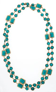 Chanel Green Crystal & Gold Sautoir Necklace, HT