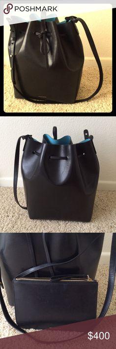 Mansur Gavriel Bucket Bag Black/Marine bucket bag Mansur Gavriel Bags Shoulder Bags