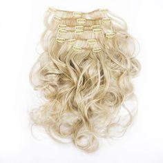 Synteettiset Klipsipidennykset 18' -Kihara Natural Blond