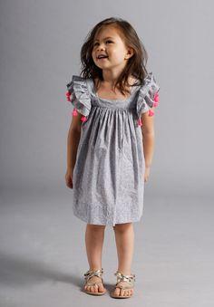 Chloe Dress- Indian Summer by Nellystella Little Girl Fashion, Toddler Fashion, Kids Fashion, Outfits Niños, Kids Outfits, Little Girl Dresses, Girls Dresses, Robes Tutu, Chloe Dress