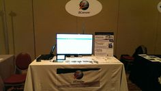 ZCorum demo table at CableLabs Winter Conference in Orlando, FL.