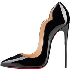 Pre-owned Christian Louboutin Brand New Hot Chick Patent Leather Black... ($1,250) ❤ liked on Polyvore featuring shoes, pumps, black, black court shoes, kohl shoes, pre owned shoes, black patent pumps and black patent leather pumps