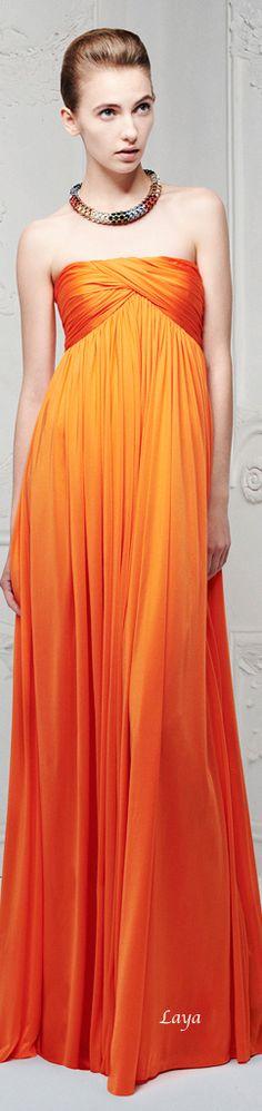 ★ Fresh Orange ★ Alexander McQueen Resort 2013