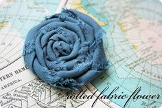 rolled fabric flowers {tutorial}