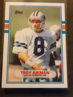 2000 Troy Aikman Dallas Cowboys Starting Lineup mint in pkg w// Football Card