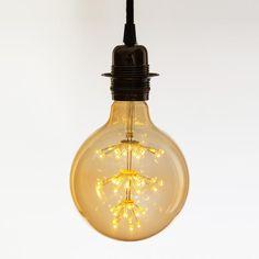 Buy Globe LED Vintage Light Bulb from Not On The High Street: International delivery on Sendit. Vintage Light Bulbs, Vintage Lighting, Interior Design Process, Ceiling Rose, Luz Led, Vintage Industrial, Lighting Design, Globe, Star