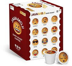 JavaMoji Emoji KCup Pods Dark Roast Coffee 100 Recyclable 24 Count ** Details can be found by clicking on the affiliate link Amazon.com.