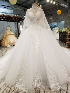 wedding dresses lace, Glamorous Sequin Tulle Sweetheart Neckline Bal Gown Wedding Dresses With Beadings & Lace Appliques DressilyMe UK Wedding Dresses With Flowers, Dream Wedding Dresses, Wedding Gowns, Lace Wedding, Wedding Venues, Wedding White, Budget Wedding, Trendy Wedding, Dubai Wedding Dress