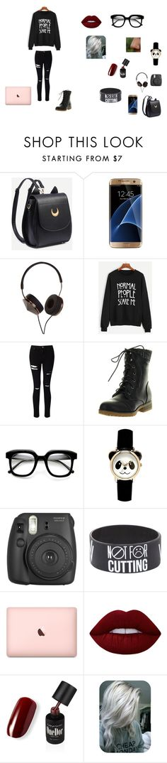 """""""Untitled #35"""" by juliab3638 on Polyvore featuring Samsung, Frends, Miss Selfridge, Refresh, ZeroUV, Fujifilm and Lime Crime"""