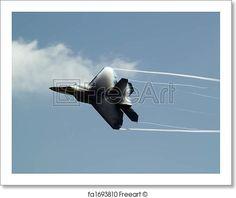 F-22 rapid turn - Artwork  - Art Print from FreeArt.com