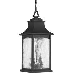 Maison Collection 2-light Black Hanging Lantern