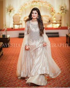 Bridal sister Stylish Dresses For Girls, Wedding Dresses For Girls, Wedding Party Dresses, Girls Dresses, Party Wear Indian Dresses, Pakistani Wedding Outfits, Designer Party Wear Dresses, Fancy Dress Design, Bridal Dress Design