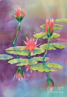 Lily Pond Painting by Robert Hooper - Lily Pond Fine Art Prints and Posters for Sale