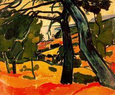 'landschaft', öl auf leinwand von André Derain (1880-1954, France)