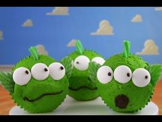 Toy Story Cupcakes - Make Toy Story Alien Cupcakes for Kids - A Cupcake Addiction How To Tutorial