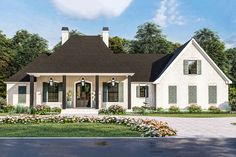 French Country House Plans, French Country Style, Southern Style, French Country Farmhouse, European Style, Acadian House Plans, French Country Exterior, Southern Living House Plans, European House