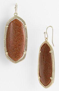 Women's Kendra Scott 'Elle' Drop Earrings - Goldstone/ Gold