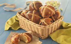 Lemon & White Chocolate Hot Cross Buns