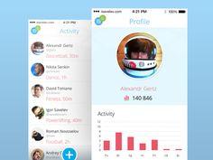 Meny & Activity - Via http://www.themangomedia.com/blog/gorgeous-user-interface-design-inspiration/ @teammangomedia