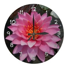 Customizable clocks from Zazzle. Choose a pre-existing design for your wall clock or create your own today! Wall Clock Design, Floral Wall, Wall Clocks, Create Your Own, Kids Room, Lily, Wall Decor, Water, Home Decor