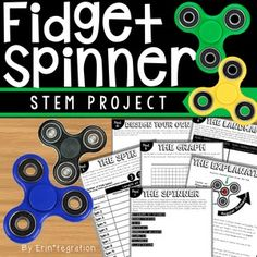 """Fidget spinners in the classroom driving you crazy? Learn how to put a positive """"spin"""" on the fidget spinner trend with activities and free resources!"""