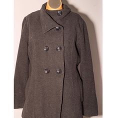 Steve Madden coat Great buy!!! Grey Steve Madden coat, warm and cozy!  Fits size 11-14 comfortably I'd say!! Very roomy for a size large- all buttons still in tact and two side pockets on side of coat Steve Madden Jackets & Coats Pea Coats