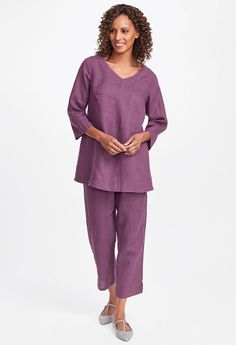 2019 Classics Two & Fall Traveler Looks Womens Linen Clothing, Flax Clothing, Linen Pants, Capri Pants, Tunic, Plus Size, Shorts, Female, Clothes For Women