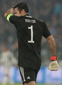 Gianluigi Buffon of Juventus FC reacts during the UEFA Champions League Quarter Final Leg One match between Juventus and Real Madrid at Allianz Stadium on April 3, 2018 in Turin, Italy.
