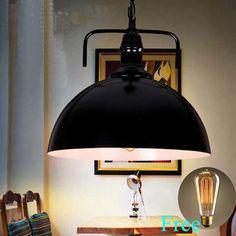 Loft Fixture Chandelier Vintage Ceiling Lamp Industrial Home Deco Pendant Light #idealhome #Modern