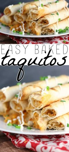 Taquitos for everyone! Make these baked taquitos and every day taco . - Taquitos for everyone! Make these baked taquitos and every day Taco Di … – Football Food – - Entree Recipes, Easy Dinner Recipes, Mexican Food Recipes, Appetizer Recipes, Easy Meals, Appetizers, Easy Recipes, Dinner Ideas, Easy Baked Chicken