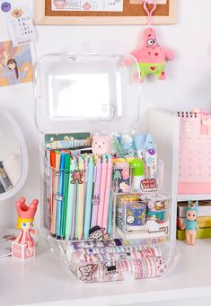 Cheap Storage, Storage Boxes, Makeup Organization, Room Organization, School Pens, Stationary Supplies, Organiser Box, Cute Stationery, Aesthetic Bedroom