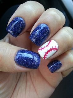 #baseballnails, acrylic nails with gel overlay #nailsbyRavae