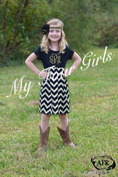 A personal favorite from my Etsy shop https://www.etsy.com/listing/208508508/girls-saints-dress-black-gold-dress