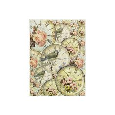 Rice Paper for Decoupage Decopatch Scrapbook Craft Sheet Vintage... ❤ liked on Polyvore featuring home, home decor and bird home decor