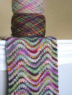 """Qualche tempo fa, avevamo visto il punto """"zig-zag"""" all'uncinetto, oggi c'è l'abbiamo a maglia ."""