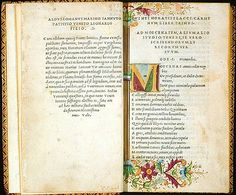 An Aldus Manutius edition of Horace. Venice, 1501